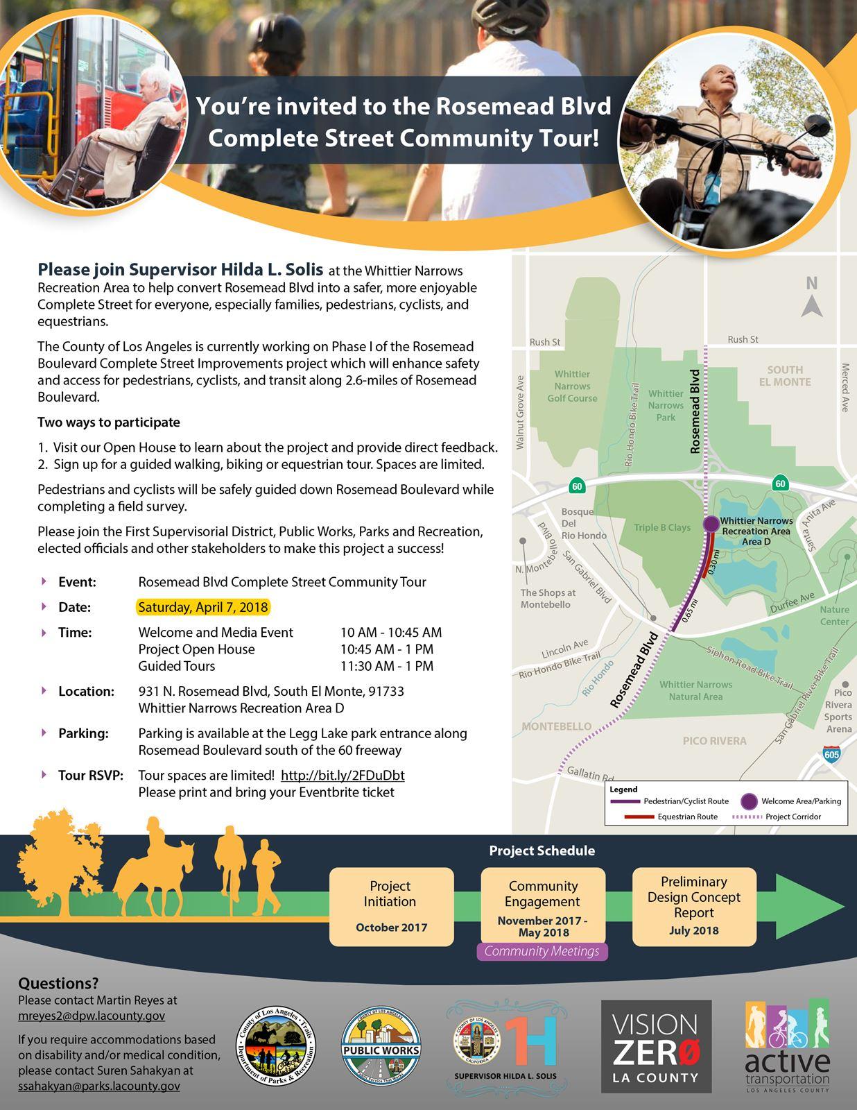 Rosemead Complete Street Community Tour